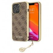 Guess iPhone 13 Pro Skal Max Charms Collection - Brun