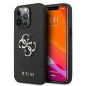 Guess iPhone 13 Pro Skal Max Saffiano Metal Logo - Svart