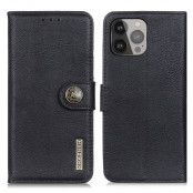 KHAZNEH Plånboksfodral iPhone 13 Pro Max - Svart