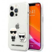 Karl Lagerfeld iPhone 13 & 13 Pro Skal Karl & Choupette - Transparent