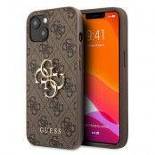 Guess Big Metal Logo Skal iPhone 13 - Brun