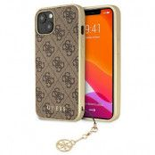 Guess iPhone 13 Skal Charms Collection - Brun
