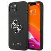 Guess iPhone 13 Skal Saffiano Metal Logo - Svart