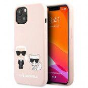 Karl Lagerfeld iPhone 13 Skal Silikon Karl & Choupette – Ljus Rosa