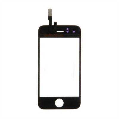 iPhone 3GS Display Glas - Svart