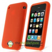 Silikonskal till iPhone 3GS (Crimson Red)