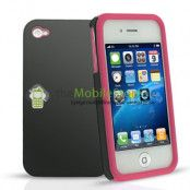 Combo Skal till APPLE iPHONE 4 (ROSA)