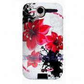 FlexiCase Skal till Apple iPhone 4 (RedScarlet Flower)