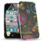 Jelly Fish Designer Skal till Apple iPhone 4 +  Skärmskydd