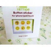 Klistermärkes hemknapp för Apple iPhone och iPad (Smiley)