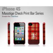 Zenus MASSTIGE CHECK PRINT BAR tilI iPHONE4/4S (RÖD)