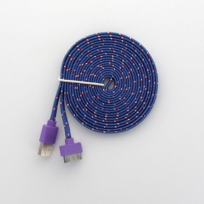 3 Meters trasselfri USB laddnings kabel till iPhone 44s