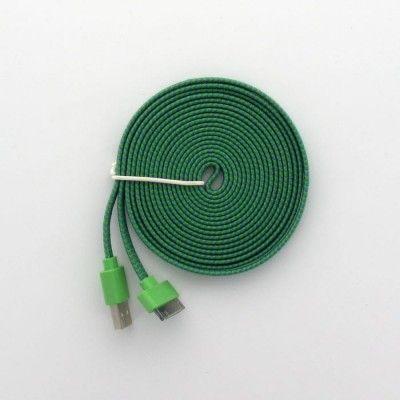 3 meter trasselfri USB kabel laddare iPhone 44s iPad 2,3