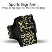 PCMAMA Sportarmband till iPhone 4S/4 / 3G / 3GS / iPOD (LEOPARD)