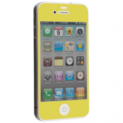 Colored Tempered Glass Skärmskydd till Apple iPhone 4 / 4S - Gul