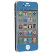 Colored Tempered Glass Skärmskydd till Apple iPhone 4 / 4S - Ljus Blå