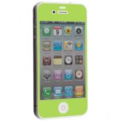 Colored Tempered Glass Skärmskydd till Apple iPhone 4 / 4S - Ljus Grön