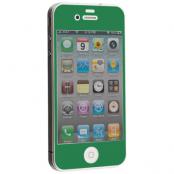 Colored Tempered Glass Skärmskydd till Apple iPhone 4 / 4S - Mörk Grön
