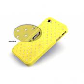 Diamond Baksideskal till Apple iPhone 4S/4 + Skrmskydd (Gul)