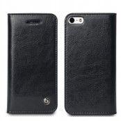 Exklusiv Äkta Läder Plånboksfodral till Apple iPhone 4S - iPhone 4 (Svart)