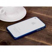 LOVE MEI 0,7mm Thin Aluminum Metal Bumper till Apple iPhone 4S/4 (Blå)