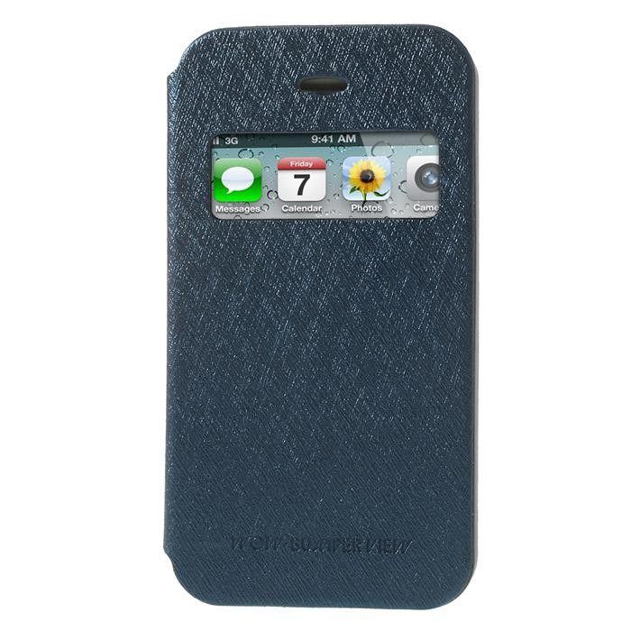 Mercury Bumper View Fodral till Apple iPhone 4S 4 (Mörkblå