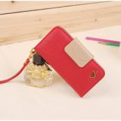 Metallic Bird Plånboksfodral till iPhone 4/4S - Röd