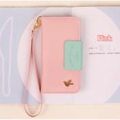 Metallic Bird Plånboksfodral till iPhone 4/4S - Rosa