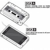 Silikon Skal till iPhone 4 / 4S (Kassettfodral) Brun
