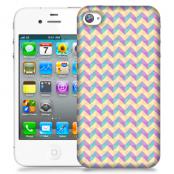 Skal till Apple iPhone 4S - Rutor Lila/Gul