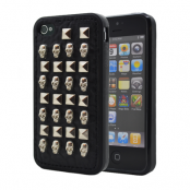 Studded Leather Pattern Flexiskal till Apple iPhone 4S