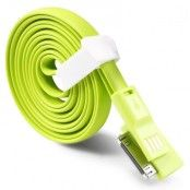 TakeFans trasselfri USB laddningskabel till iPhone 4/4S (Grön)