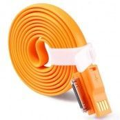 TakeFans trasselfri USB laddningskabel till iPhone 4/4s (Orange)