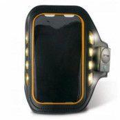 iPhone 5 / 5S / SE Ksix Led Sport Armband - Svart