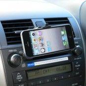 Bilhållare till bilens fläktgaller för Apple iPhone 5