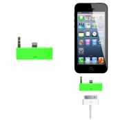 30 pin till lightning 3.5mm audio adapter till iPhone 5S/5 (Grön)