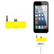 30 pin till lightning 3.5mm audio adapter till iPhone 5S/5 (Gul)
