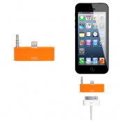 30 pin till lightning 3.5mm audio adapter till iPhone 5S/5 (Orange)