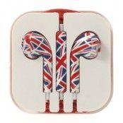 Earpods med volymkontroll & Mic till iPhone 5/5s (Union Jack)