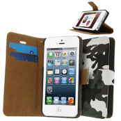 Camouflage Stand plånboksfodral till iPhone 5S/5 - (Army)