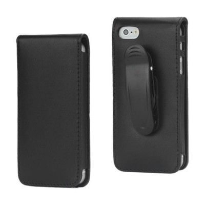 Flip bältesväska till iPhone 5S/5 (Svart)