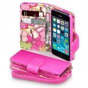 Floral Lily Plånboksfodral till Apple iPhone 5/5S/SE - Magenta