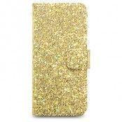 Glitter Book mobilväska till Apple iPhone 5S/5 (Guld)