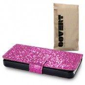 Glitter Book mobilväska till Apple iPhone 5S/5 (Rosa)