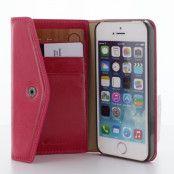 Melkco Purse Folio Plånboksfodral till Apple iPhone 5/5S - Magenta