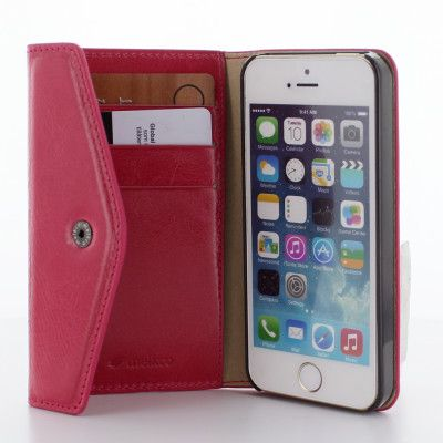Melkco Purse Folio Plånboksfodral till Apple iPhone 5/5S - Magenta