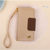 Metallic Bird Plånboksfodral till iPhone 5S/5 - Beige