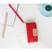 Metallic Bird Plånboksfodral till iPhone 5S/5 - Röd