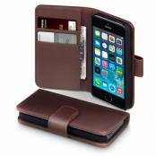 Plånboksfodral av äkta läder till Apple iPhone 5 (Brun)
