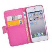 Plånboksfodral till Apple iPhone 5/5S/SE DuoCroco - Rosa